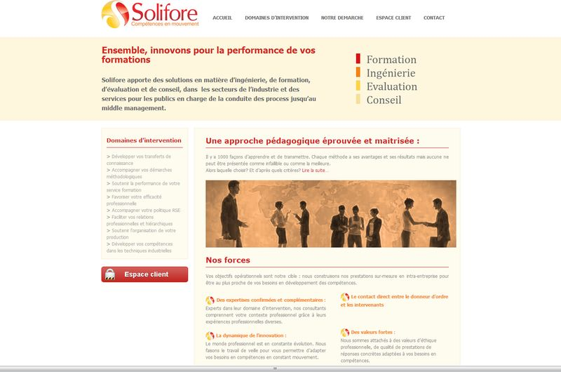 Création de site de coaching Solifore